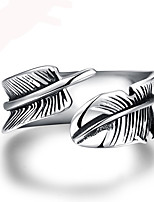Men Jewelry Stainless Steel Cuff Ring Bague Homme Vintage Leaf Leaves Ring Men anel masculino