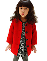 Girl's Casual/Daily Solid Down & Cotton Padded / Suit & BlazerRayon Spring / Fall Red / White