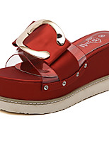 Women's Slippers & Flip-Flops Summer Slippers / Open Toe Patent Leather Casual Wedge Heel Others