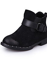 Girl's Boots Spring / Fall / Winter Bootie / Comfort Suede Outdoor / Casual Buckle / Zipper / Lace-up Black / Red
