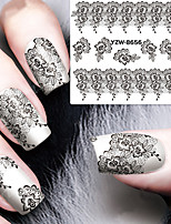 Sexy and Elegant Black Lace Applique Mail Watermark