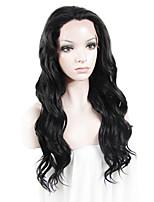 парик шнурка Парики для женщин Черный Карнавальные парики Косплей парики