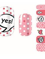 14Pcs/Sheet Nagel-Kunst-Aufkleber 3D Nails Nagelaufkleber Cartoon Design / lieblich Make-up kosmetische Nail Art Design