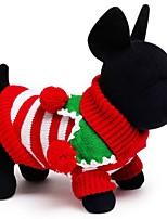 Katzen / Hunde Kostüme / Mäntel / Pullover / Smoking Rot / Grün / Weiss Hundekleidung Winter / Frühling/Herbsteinfarbig / Karton /