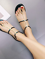 Women's Sandals Summer Slingback Leatherette Casual Flat Heel Others Black Green Pink Others
