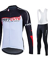 Sports® Cycling Jersey with Bib Tights Women's / Men's / Unisex Long SleeveBreathable / Quick Dry / Moisture Permeability / 3D Pad /