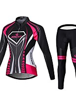 Sports Cycling Jersey with Tights Women's Long Sleeve BikeBreathable / Quick Dry / Front Zipper / Wearable / High Breathability