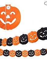 Halloween Supplies Festival Supply  Decorations  Pumpkin Garland Length 3m