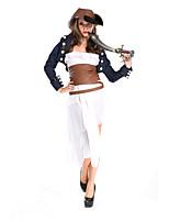 Costumes Déguisements thème film & TV Halloween Blanc / Noir Couleur Pleine Térylène Haut / Jupe / Chapeau / Plus d'accessoires