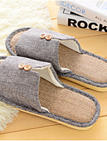 Unisex Slippers & Flip-Flops Spring / Fall Comfort Linen Casual Flat Heel Others Green Others