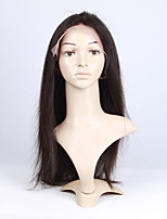 Unprocessed Natural Color 16-26 Brazilian Virgin Hair Natural Straight Lace Front Wig
