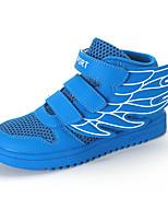 Unissex-TênisRasteiro-Azul Branco-Tule-Para Esporte