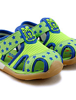 Boy's Sandals Summer Comfort Cotton / Tulle Casual Low Heel Others / Hook & Loop Green / Royal Blue Others