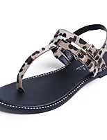 Women's Sandals Summer Sandals Horse Hair Casual Flat Heel Others Black / Brown Others