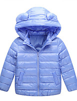 Girl's Casual/Daily Solid Down & Cotton PaddedNylon Winter Black / Blue / Brown / Pink / Red / Gray