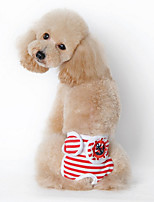Hunde T-shirt / Pyjamas Rot / Blau / Schwarz Hundekleidung Sommer / Frühling/Herbst Streifen Lässig/Alltäglich