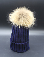 Unisex Raccoon Fur / Cotton Beanie/SlouchyCasual Spring / Fall / Winter
