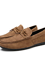 Men's Loafers & Slip-Ons  Comfort / Round Toe / Closed Toe  Casual Flat Heel Lace-up Brown / Gray / Khaki
