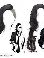 anime japonais tokyo goule cosplay longues courtes ondulées résistantes chaleur perruques syntheticr noir et blanc pour la fête de