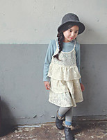 Girl's Going out Floral Dress / Overall & JumpsuitPolyester Winter / Spring / Fall Blue