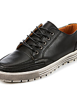 Men's Oxfords Spring / Fall / Winter Comfort PU Outdoor / Casual Flat Heel Lace-up Black / Brown Walking / Others