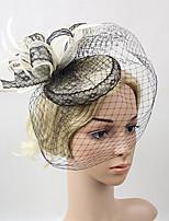 Ženy Peří Síť Přílba-Svatba Zvláštní příležitost Ozdoby do vlasů Jeden díl