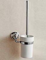 Suporte para Escova de Banheiro / Gadget de Banheiro / Espelhado / De Parede /7.7*4.9*14.96 inch /Latão / Liga de Zinco /Contemporâneo /