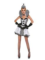 Costumes Plus de costumes Halloween Blanc Imprimé Térylène Robe / Plus d'accessoires
