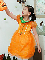 Mädchen Kleid-Party/Cocktail Patchwork Baumwolle / Polyester Ganzjährig Orange