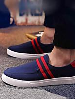 Herren-Loafers & Slip-Ons-Lässig-Leinwand-Flacher Absatz-Geschlossene Zehe-Schwarz / Blau