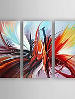 Handgeschilderde Abstract Olie schilderijen,Modern Drie panelen Canvas Hang-geschilderd olieverfschilderij For Huisdecoratie