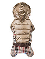 Elegant Tartan Hooded  Winter Pet Jacket and Casual Jumpsuit for Dog and Cats Clothes (Assorted Sizes Assorted Colors)