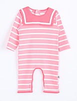 Girl's Casual/Daily Striped Overall & JumpsuitCotton Fall Pink