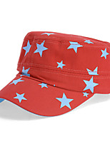 Unisex Cotton Stars Printed Flat Cap Summer Outdoor Sun Hat Baseball Casual Cap