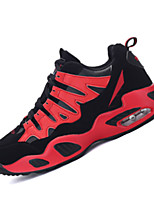 Unisex Running Athletic Shoes Spring / Fall Comfort Cowhide Casual Flat Heel  Blue / Red / White Sneaker