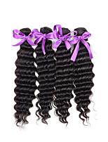 Deep Wave Brazilian Hair 4Pcs Curly Brazilian Virgin Hair Extensions Brazilian Curly Virgin Hair  Deep Wave Human Hair