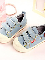 Girl's Sneakers Fall Comfort Canvas Casual Flat Heel Lace-up Blue Others