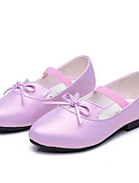 Girl's Flats Spring Fall Ballerina PU Casual Flat Heel Bowknot Pink Purple Others