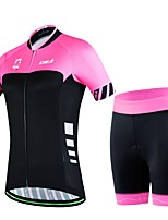 Women's Summer Cycling Simple Short Shirt Bicycle Breathable Quick Dry Jersey Bike 3D Cushion Pad Shorts Suits