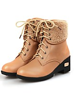 Women's Boots Fall / Winter Combat Boots PU Outdoor / Dress / Casual Low Heel Others Black / Brown / Khaki Others