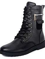 Men's Fashion Boots Leatherette Outdoor / Party & Evening Flat Heel Zipper / Lace-up Black Snow Boots EU39-43