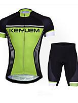 KEIYUEM® Fahrradtriktot mit Fahrradhosen Unisex Kurze Ärmel FahhradWasserdicht / Atmungsaktiv / Rasche Trocknung / Anatomisches Design /
