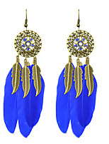 Earring Leaf Jewelry Women Fashion Party / Daily / Casual Alloy / Feather 1 pair Gold KAYSHINE