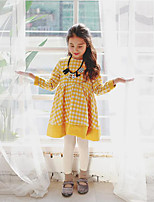 Girl's Casual/Daily Check Overall & JumpsuitPolyester Winter / Fall Yellow