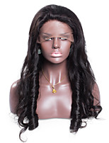 Wholesale No shedding No tangle Wavy Color 1B Medium Brown Swiss Lace 130% density Brazilian Human Hair Full Lace Wig