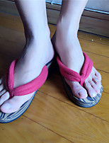 Women's Slippers & Flip-Flops Summer Slingback Polyester Casual Flat Heel Others Red Others