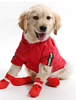 Cat / Dog Hoodie / Rain Coat Red / Yellow / Blue Dog Clothes Summer / Spring/Fall Solid Waterproof
