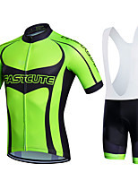 Sports® Cycling Jersey with Bib Shorts Women's / Men's / Kid's / Unisex Short SleeveBreathable / Quick Dry / Moisture Permeability / 3D