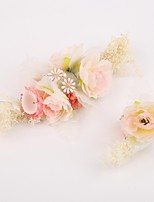 Women's Alloy / Resin / Fabric Headpiece-Wedding / Special Occasion Hair Combs / Flowers 2 Pieces Clear / Pink / White