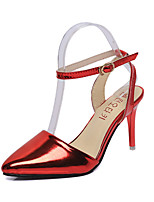 Women's Heels Spring / Summer / Fall Heels / Ankle Strap / Pointed Toe Leather Party & Evening / Dress Stiletto